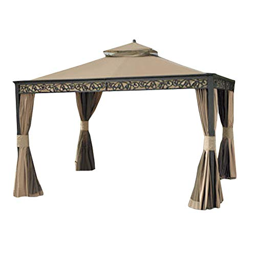 (Garden Winds Replacement Canopy for Gazebo Model L-GZ399PAL-1 (Will Not Fit Any Other Model) - Riplock 350 Performance Fabric)