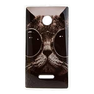 For Microsoft Lumia 435 , Leathlux Cat Style Slim Flexible TPU Case Protective Skin Soft Rear Case Cover for Microsoft Lumia 435