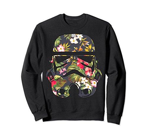 Unisex Star Wars Tropical Stormtrooper Floral Print Sweatshirt Large (Trooper Sweatshirt)