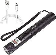 JCKSY Green Beam Pointer, High Power USB Rechargeable Long Range Adjustable Focus Handheld Light with Star Cap