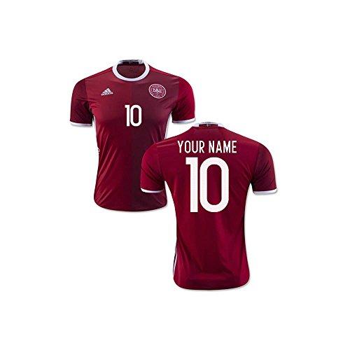 2016-2017 Denmark Home Shirt (Your Name) - Official Name Denmark