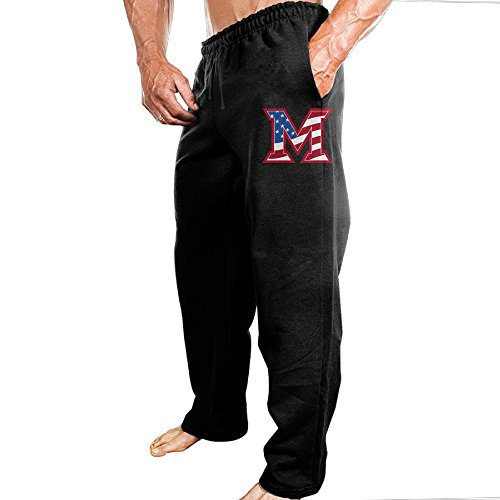 TONGY Men Miami University U Miami Of Ohio RedHawks Comfortable Jogging Cool Sweatpants Leisure Wear Size M -