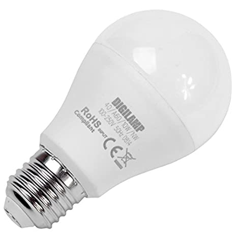 Digilamp A60/40/wh LED 800 Lumens bombilla LED 10 W 6400 K: Amazon.es: Iluminación