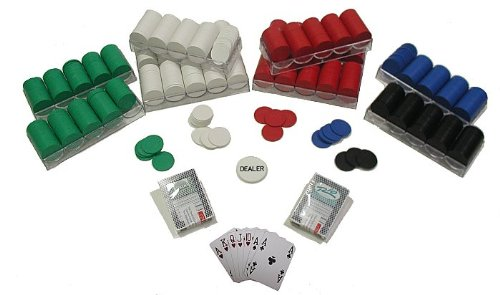 Trademark 1000 Poker Chips Texas Hold Em Set Poker Chip Set, Multi by Trademark Global