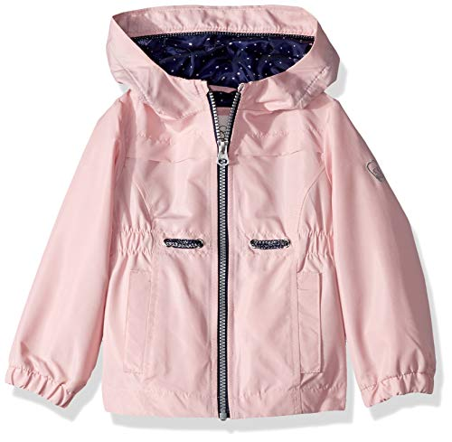 Jessica Simpson Girls' Big Lightweight Anorak Jacket with Jersey Lining, Pink Mesa, 10/12