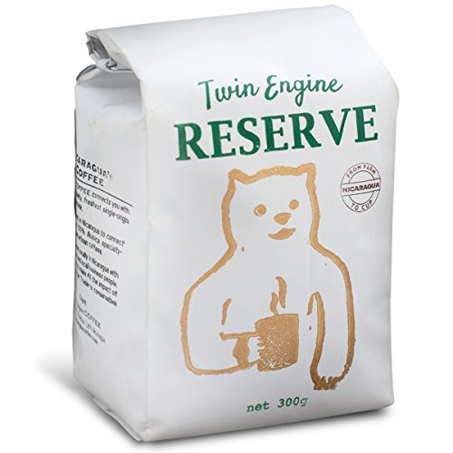Twin Engine Coffee RESERVE HONEY-BEAR - Reserve Roast, Ground Coffee, 100% Nicaraguan Coffee, 300g 10.6oz | Rich Specialty Grade Coffee packaged at the source | Nicaragua's Coffee