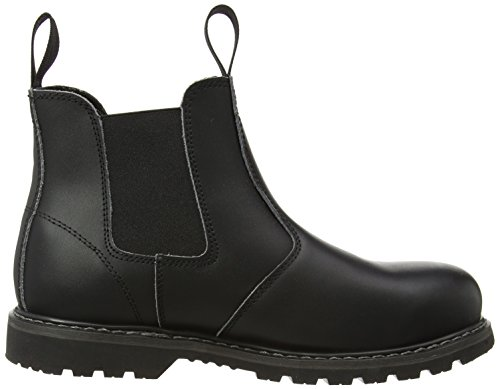 Amblers Black Steel Womens Unisex Dealer Pull FS5 Boots On Mens Boot aZPaq