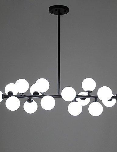 Glass chandelier,Retro chandelier,Crystal chandeliers The Chandelier Glass Ball Creative DNA Molecular Clothing Store Lighting Beanstalk Chandelier , white-110V-120V
