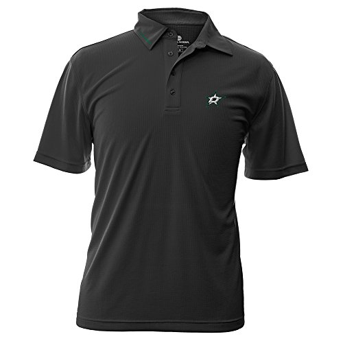 NHL Dallas Stars Adult Men Surface Wordmark Polo - Store Dallas Polo
