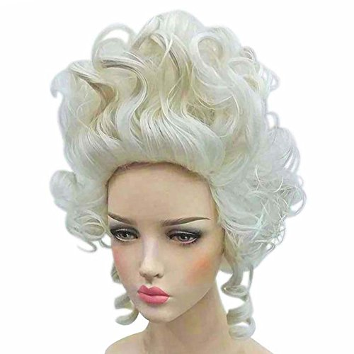 Ladies Colonial Wig (Colonial Wigs Ladies 18th Century Marie Antoinette Cosplay Adult Women)