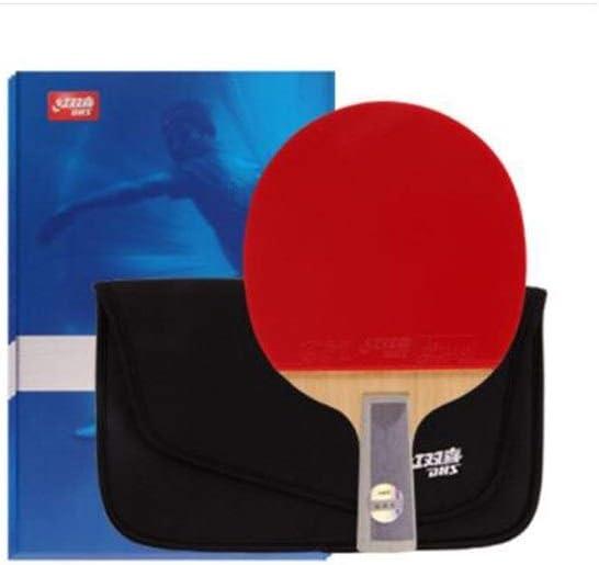 ZHIC 卓球ラケット、横長、スカイブルー、両面7層底板、ペンホルダー、セット Good partner to accompany B