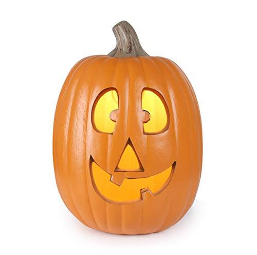 GameXcel Halloween Pumpkin Lamp JackoLantern with Constant Orange Light - Perfect Front Door Office for Porch, Party, Front Door, Fireplace Decorations, 13