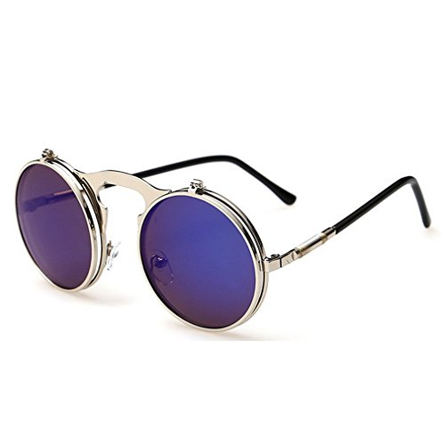 G&T 2016 Retro Fashion Metal Frame Clamshell Lens Round Beach - Okey Sunglasses