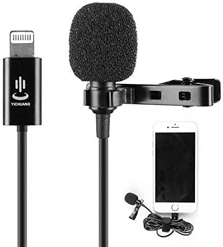 Audio Lapel with Easy Clip for YouTube Interview Video Conference Podcast Voice Dictation Vlog Facebook Live Lavalier Microphone for iPhone 11 X Xr Xs max 8 6 6s 6 5 Plus iPad Mini iPod