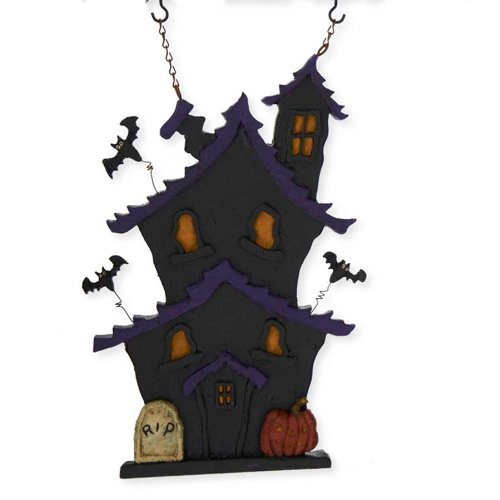 Haunted House Decorative Plaque for Arrow Hanger by K&K Interiors