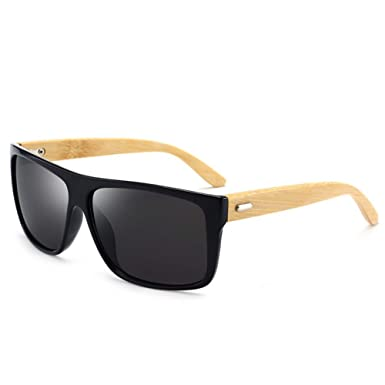 2e0b0e315b7ed Amazon.com: ZLYZ Sunglasses Wood Sunglasses Men Polarized Uv400 Driving  Square Mirror Sun Glasses Retro Lunette De Soleil Homme: Clothing