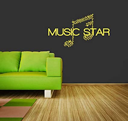 Amazon com: Wall Decal Vinyl Sticker Sign Music Star Stars