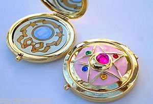 Sailor Moon Crystal Star Compact Brooch Locket Functional CosPlay Doll Prop by Unbranded (Image #1)