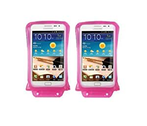 DiCAPac WP-C2 Underwater Housing(WaterProof) Case - 2 Sets Of Pink for Samsung Galaxy Note 1 & 2 and Galaxy S3