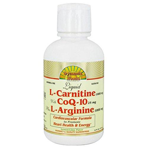Dynamic Health Liquid L-Carnitine with CoQ-10 plus L-Arginine Lemon Lime – 16 fl oz