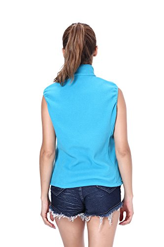 Clothin - Chaleco - para mujer azul celeste