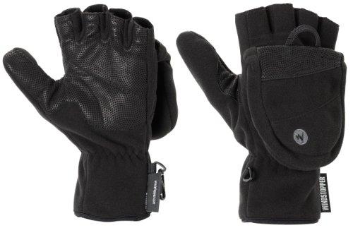 Marmot Men's Windstopper Convertible Glove, Black, Medium
