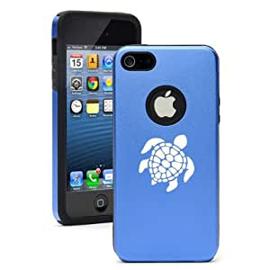 Apple iPhone 5 5S Blue 5D1964 Aluminum & Silicone Case Cover Sea Turtle