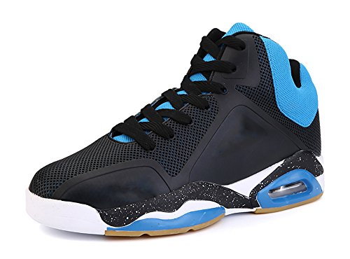 COSDN Men's Fashion Air Cushion Shock Absorption Comfortable Basketball Shoes Sports Running Tennis Casual Sneakers Size 7 Black