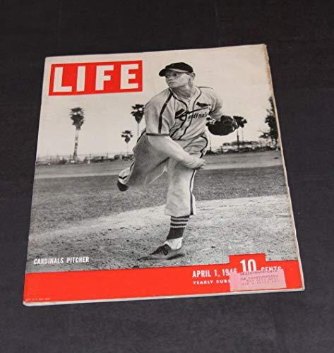 LIFE MAGAZINE APRIL 1 ST 1946 ST LOUIS CARDINALS PITCHER RED BARRETT ()
