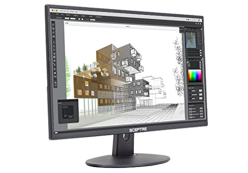 "Sceptre E275W-19203R 27"" Ultra Thin 1080P LED Monitor up to 75Hz 2X HDMI VGA Build-in Speakers, Machine Black 2020"