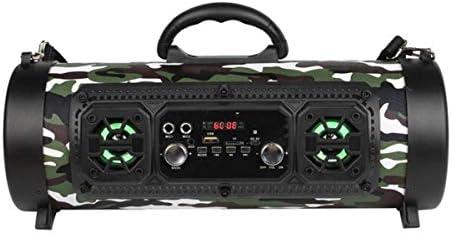 Ququack PC携帯電話音楽機器迷彩のための屋外ポータブルモバイル強力なワイヤレスHiFiステレオBTスピーカーサウンドボックス