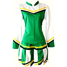 Adult Women Cheerleader Cheerleading Outfit Uniform Costume Cosplay