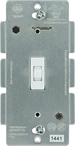 GE Add-On Switch, Toggle Fad for GE Z-Wave, GE ZigBee and GE Bluetooth Wireless Smart Lighting Controls, White, NOT A STANDALONE SWITCH, 12728