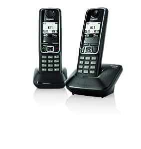 Gigaset A420 - Teléfono fijo digital (altavoces, manos libres), negro