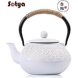 Cast Iron Teapot,Japanese Tea Kettle Sotya Tetsubin teapot with Infuser (1200ml/40oz)