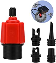 Oumers Inflatable SUP Pump Adaptor Air Pump Converter, 4 Standards Conventional Air Valve Attachment for Infla