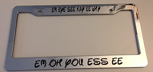 chrome license plate frame disney - 2