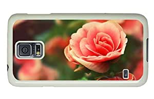 Hipster for sale Samsung Galaxy S5 Case roses pink PC White for Samsung S5