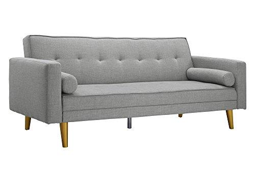 Novogratz Vintage Mix Sofa Futon, Premium Linen Upholster...