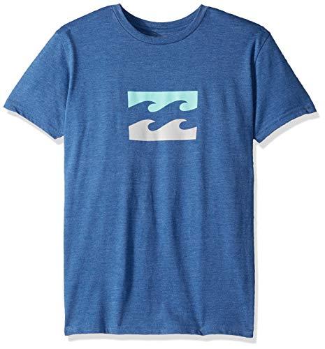 (Billabong Boys' Team Wave T-Shirt Royal Heather)