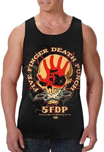 Five Finger Death Punch ファイヴ フィンガー デス パンチ ランニング ジョギング 男性の筋肉タンク 通気性 速乾