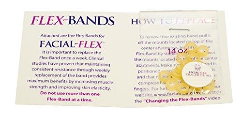 Face Rubber Band - Facial-Flex Replacement Bands - Pack of 20 Facial Flex Bands, 14 Oz. Resistance - 3 Month Supply for Facial Flex Facial Exercise Devices