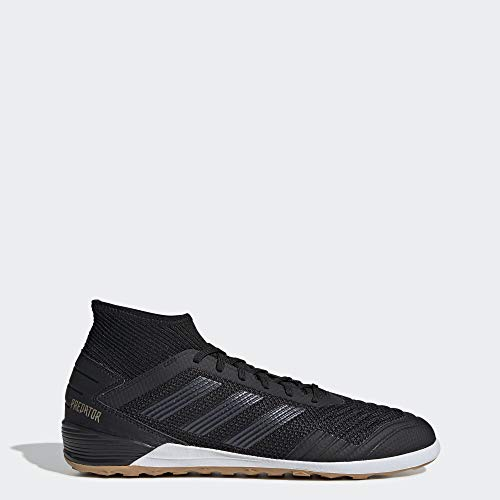 adidas Men's Predator 19.3 Indoor Soccer Shoe, Black/Black/Gold Metallic, 11 M US
