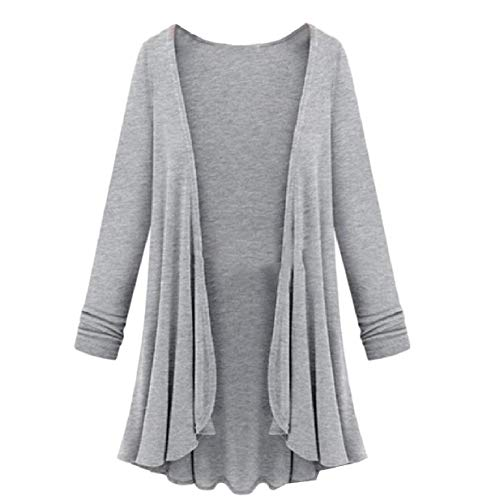 Cardigan XINHEO Top Sleeve Grey Oversized Long Autumn Relaxed Knit Coat Women wwnOq6tp