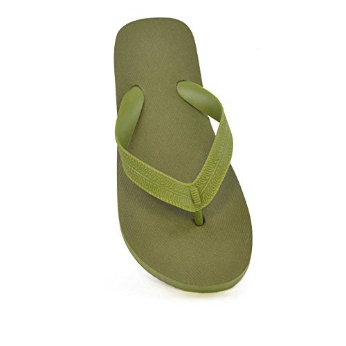 Childrens Big Boys Basic Plain Flip Flop