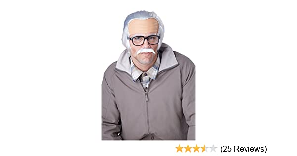California Costumes Mens Rude Grandpa Wig Gray One Size