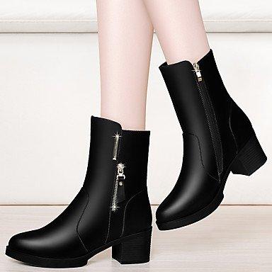 Vestido Botas Sintético Para Mitad y hasta Fiesta Invierno Combate Zapatos Botas Mujer Otoño de Gemelo Botas el Botas Moda Tobillo de de AIURBAG x8R4fwEH