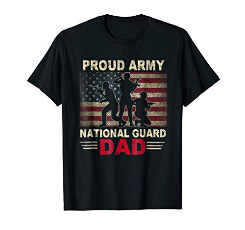 Proud Army National Guard Dad Flag Shirt - Shirts Guard Army National