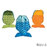 fishing bobber decorations - Little Fisherman Drawstring Bags - 12 pc by Party Supplies