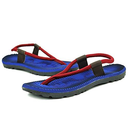 Fangda Casual Strand Draag Flip-flop Sandalen Voor Heren Blauw